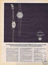 Publicité Advertising 056 1961 Omega montres Seamaster de ville