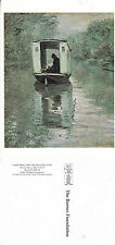 PAINTING - HOUSE BOAT BY CLAUDE MONET UNUSED COLOUR POSTCARD