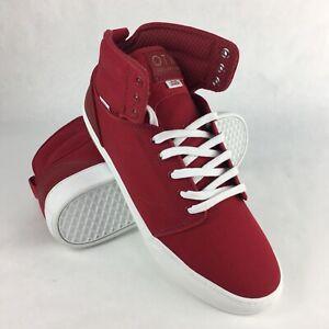 Vans ALOMAR Basic Red White VN-0KX07GD Skateboarding Men's High Top Shoes 11.5