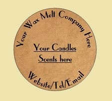 PERSONALISED WAX MELT STICKERS - BUSINESS LABELS STICKERS WAX MELTS