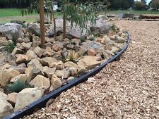 100mm high Black recycled plastic garden edging. Curves easily