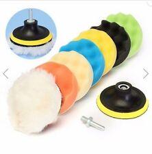 8 pcs 7 inch Sponge Polishing Waxing Buffing Pads Kit For Car Polisher Buffer
