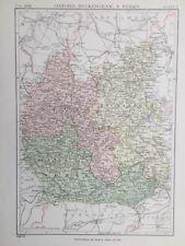 1885 Antiguo Mapa-Berkshire/dólares/Oxford-Enciclopedia Britannica