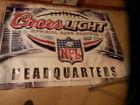 HUGE GIANT COORS LIGHT BEER NFL HEADQUARTERS BANNER * L@@K *