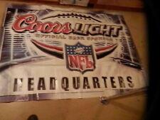 Giant Coors Light Beer Nfl Headquarters Banner * L@K *