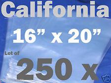 Lot Of 250 Piece Heat Shrink Wrap Pvc Film Flat Bags 16x20 Packaging 16 X 20