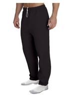 New Mens Gildan Closed Bottom Black Pocket Sweats Pants Size S, M, L, XL