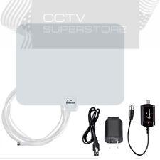 Long Range HDTV Flat Indoor Antenna Amplified VHF UHF Digital TV HD 50 Miles