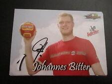 16333 Johannes Bitter SC Magdeburg Handball original signierte Autogrammkarte