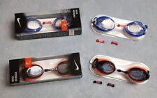 38b231168ae4 Genuine Nike Swimming Goggles Remora Blue Orange Adults Competition