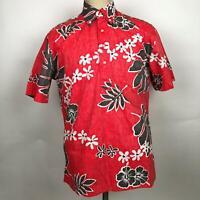 NWT Reyn Spooner Old School Pullover Hawaiian Reverse Print Shirt Sz Small Red