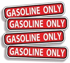 Gasoline ONLY Vinyl Decal Sticker OEM Gas Engine Fuel Car Vehicle Labels Safety