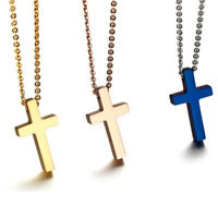 Religious Mini Cross Prayer Pendant Women Necklace Chain Stainless Steel Fashion