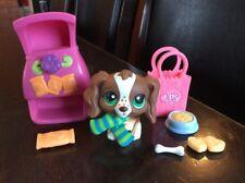 AUTHENTIC ✨ LPS Littlest Pet Shop Cocker Spaniel Dog # 156 Brown White Freckles