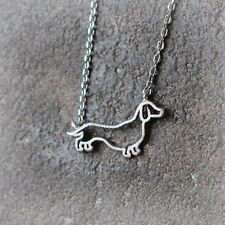 Stunning Silver Tone Dachshund  Dog Necklace.With an Organza Bag