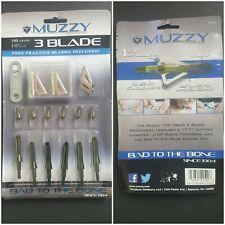 Muzzy Bow Hunting Broadheads 3-Blade 100 Grain 1-3/16