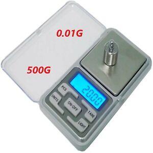 BALANCE DE PRECISION électronique Pèse de Poche Scale Bijoux Herbe 0.01g/500g