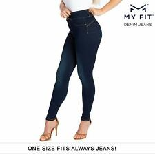 My Fit Jeans SIZE 2-12 DARK WASH Womens Stretch Denim Jeans As Seen On TV - New