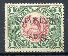 Guatemala Yvert # 157, Inverted Overprint, Mh, Vf