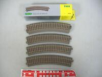 AN4-0,5# 6x Trix H0/DC 62130 Gleisstück/Schienen (C-Gleis), gebogen, NEUW+OVP