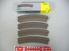 AN4-0,5 #6x Trix H0 / Dc 62130 Section de Voie / Rails (Voie C), Courbé, Neuf+