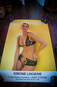 LISE CHARMEL 21 4x6 ft Bus Shelter Original Vintage Sexy Advertising Poster