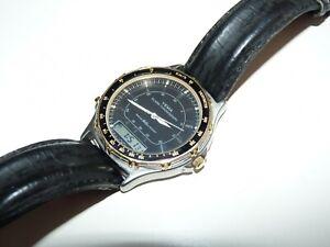 ancienne montre homme yema KQF-052x ana digi digital lcd / testé ok / pile neuve