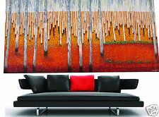 Massive Big  urban original art oil painting landscape decor 94in wide By Jane