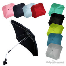 UNIVERSAL Sonnenschirm Schirm für Kinderwagen + Buggy ECKIG Ø74cm UV50+ SCHUTZ.