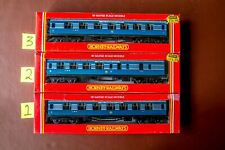 More details for rake of 3 hornby lms coronation scot blue coaches boxed unused r422 r423