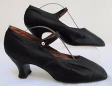 """Vintage années 1920 à clapet en Satin Noir & Nacre bouton """"Mary Jane"""" Chaussures"""