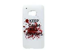 TPU Case f HTC One M9 Schutzhülle Tasche Case Cover Keep Calm and Kill Zombies