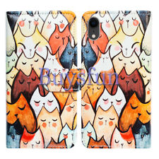Bcov Cute Sleeping Cats Wallet Leather Cover Case For iPhone XR