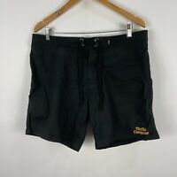 Thrills Byron Bay Mens Board Shorts 34 Black Drawstring