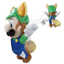 Super Mario Bros.3 Raccoon Dog Suit  Luigi Lovely Flying Suction Plush Doll Toy