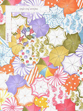 Lazy Beach Umbrella Beachy Multi Color Cotton Fabric Loralie Designs By The Yard