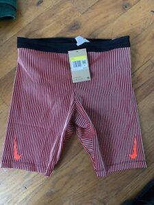 Nike Aeroswift 1/2 Tights Running Shorts - Men's Medium ~ $85.00 DA1429 014 Red