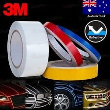 10mm 15mm 25mm 50mm REFLECTIVE Self Adhesive Stripe Vinyl 3M Decal Tape Stickers