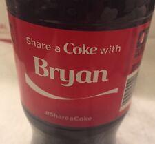 Share a COKE with Bryan 20 fl oz Collectible Bottle RARE Coca-Cola  10/26/15