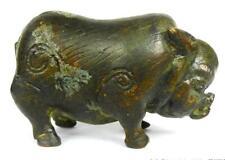 Bronze Pig Wild Boar Zodiac China 19 Century
