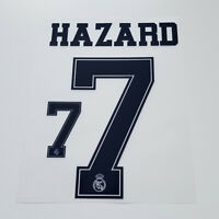 Real Madrid 2019 2020 Eden Hazard Shirt Jersey Shirt Name Number 7 Set Blue