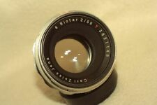 SILVER BIOTAR T 2/58 mm for M42 cam by CARL ZEISS JENA .