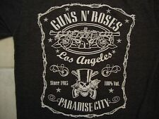 Guns N Roses Hard Rock Heavy Metal Paradise City Los Angeles Gray T Shirt Size S