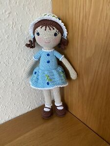 Doll Handmade Crochet Amigurumi Soft Toy ( Blueberry Doll) 100% Cotton New