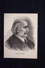 Il patriota, filosofo e politico italiano Carlo Cattaneo