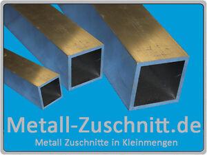 Aluminium Formrohr quadratisch, Vierkantrohr Aluprofil Längen und Größen wählbar