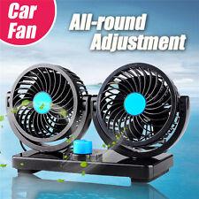 12V 360° 5W Ventilateur pour voiture Refroidisseur Camion Fourgon Bateau double
