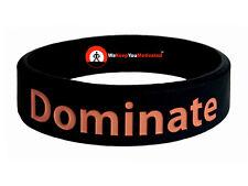 DOMINATE (BLACK) Wristband Motivational Inspirational Ionic Tourmaline Neg Ion