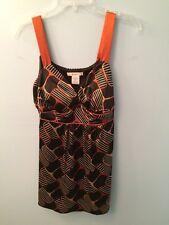 Dressbarn Women's Sleeveless Top Size Small Multi Color Geometric Print