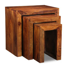 Sheesham Furniture Cube Nest of Tables (c29)